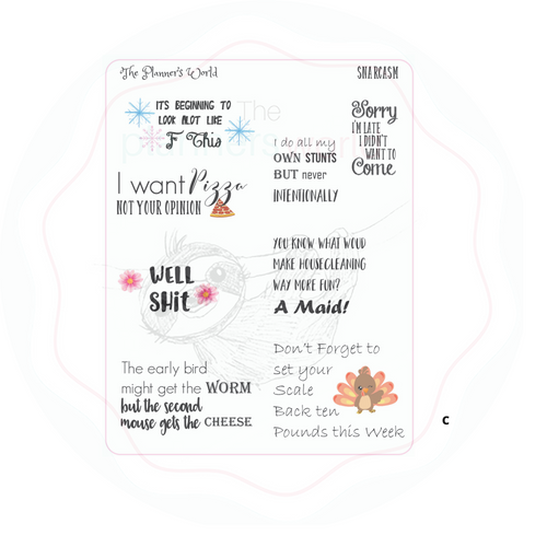 Snarcasm planner stickers - The Planner's World