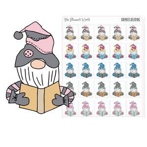 Gnomies Reading Stickers - Reading planner stickers - planner stickers - reading stickers - books stickers - The Planner's World