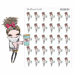 Coffee girl stickers - boss babe planner stickers