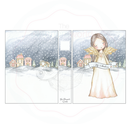 Silent Night 5 x 7 Sticker Album - The Planner's World