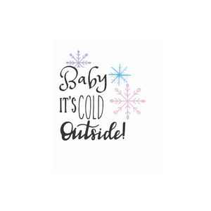 Baby its Cold Outside planner sticker die cuts - The Planner's World