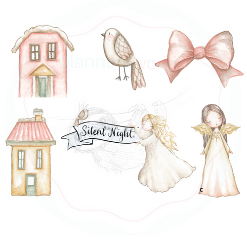 Silent Night Die Cut Stickers - The Planner's World