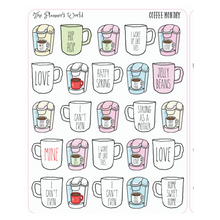 Coffee Monday coffee planner stickers - The Planner's World