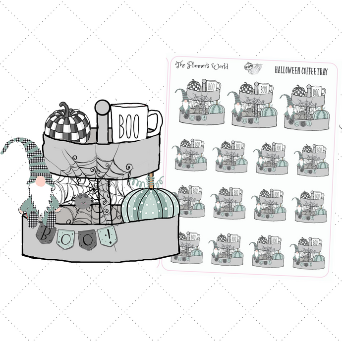 Halloween Coffee Tray Planner Stickers - farmhouse stickers - The Planner's World