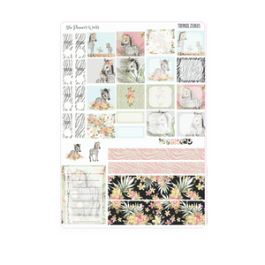 Hobonichi Weeks weekly kit / Tropical Zebras Sticker kit - The Planner's World