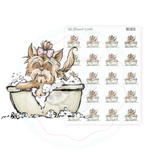 Dog Bath Stickers - Grooming appt Planner Stickers - Bath time for puppy planner stickers - The Planner's World