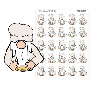 Dinner Gnome Planner Stickers - The Planner's World