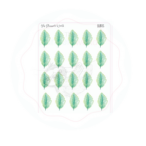 Leave Stickers - Leaf planner stickers - The Planner's World