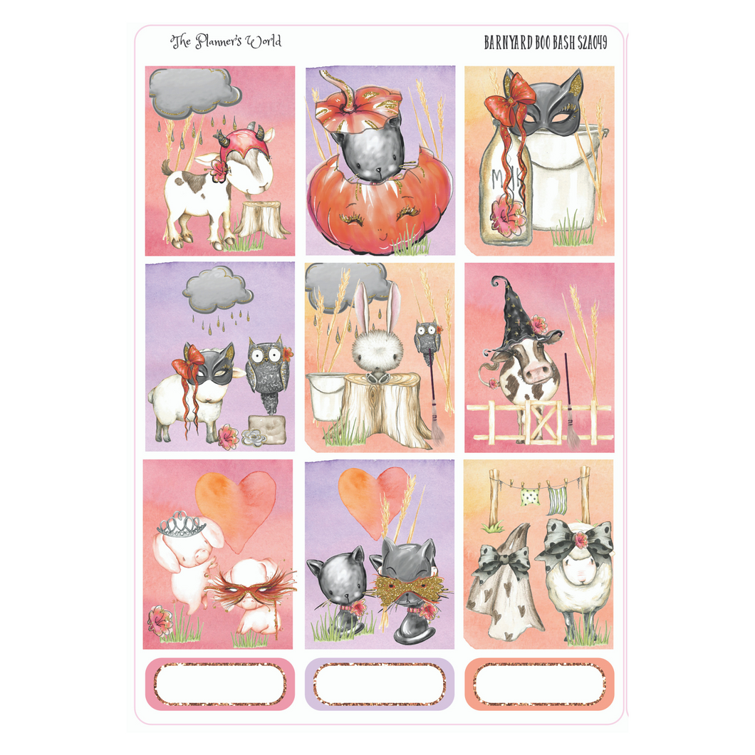 Barnyard Boo Bash ECLP Weekly Sticker  Kit - The Planner's World