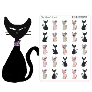 cat planner stickers - pet Stickers - The Planner's World