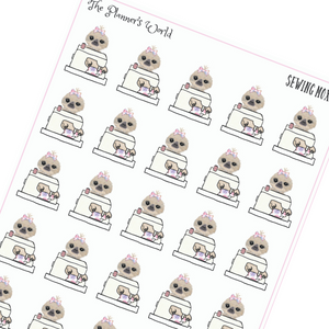 Sewing Sloth Planner Stickers - Moxie - The Planner's World