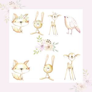 Forest Babies Die Cut Stickers - fox die cut - deer die cut - forest babies - The Planner's World