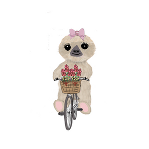 Moxie the Sloth Bike Ride Die Cut Stickers - The Planner's World
