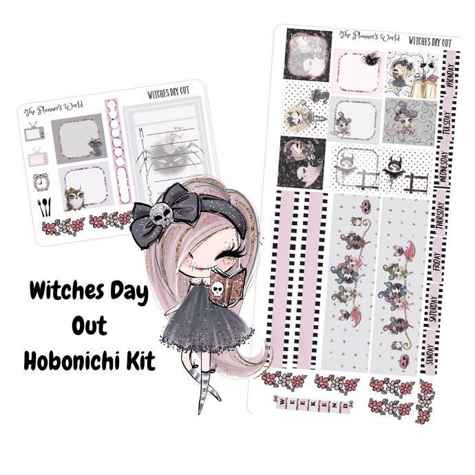Hobonichi Weeks Stickers - Witches Day Out Halloween Hobonichi Sticker kit - The Planner's World