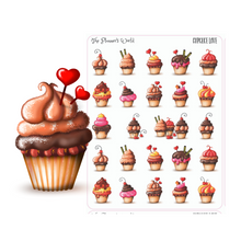 Cupcake deco planner stickers - The Planner's World