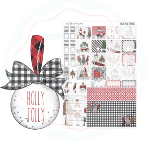 Hobonichi Weeks weekly kit / Holly Jolly Gnomes Sticker kit - The Planner's World