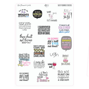 Snarky Saying adulting planner Stickers - The Planner's World