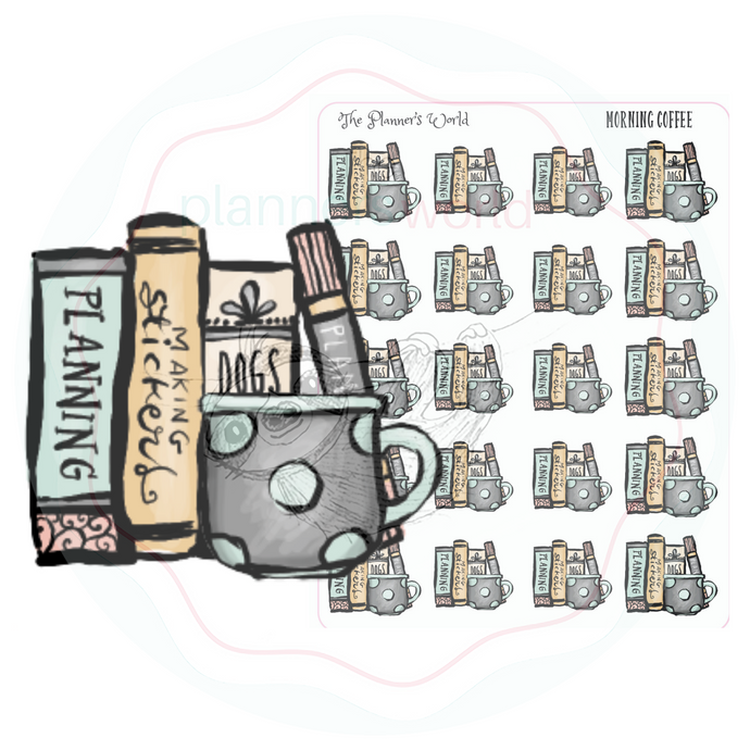 Morning Coffee Planner Stickers - The Planner's World