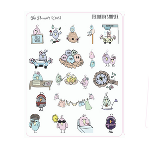 Featherbies Sampler Planner stickers - The Planner's World