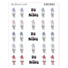 Be Mine Valentine Swedish Gnome planner stickers - The Planner's World