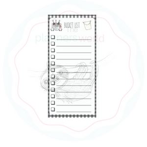 Hobonichi Bucket List Notes Sticker - The Planner's World