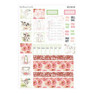 Daisy Moo Cow Hobonichi Weekly Planner Sticker Kit - Hobonichi Sticker kit - The Planner's World