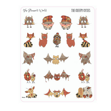 The Creepy Cuties Planner Stickers - Creepy cute stickers - halloween stickes - monster stickers - bat stickers - The Planner's World