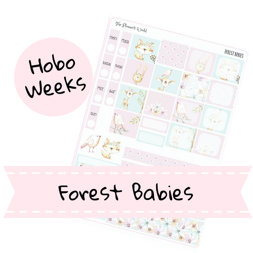 Hobonichi Weeks weekly kit / Forest Babies Sticker kit - The Planner's World