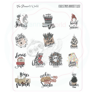 Christmas Bucket List planner stickers - The Planner's World
