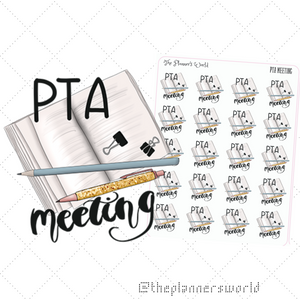PTA Meeting Planner Stickers - The Planner's World
