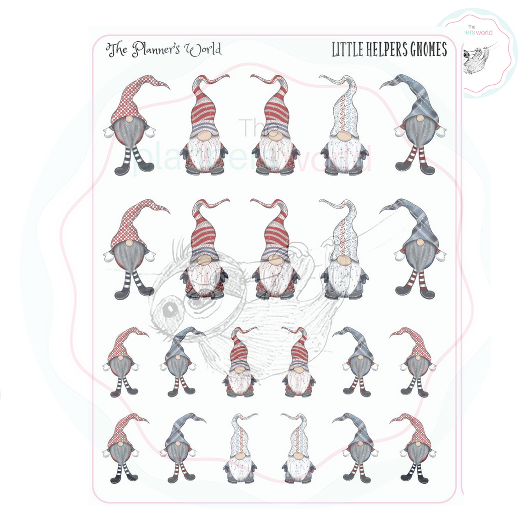 Gnome Stickers - Little Helpers - Swedish Gnome Stickers - Gnome Planner Stickers - Holiday Gnome Stickers - The Planner's World