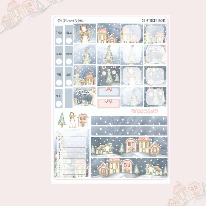 Hobonichi Weeks weekly kit / Silent Night Sticker kit - The Planner's World