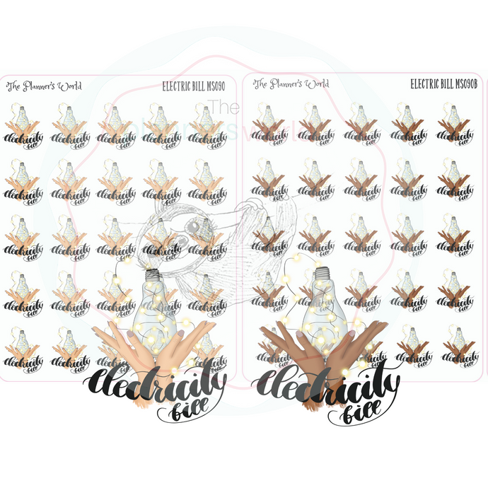 pay electricity bill planner stickers - The Planner's World