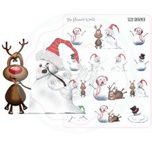 Silly Snowman Christmas stickers - snowmen - planner stickers - winter planner sticker - christmas - planner stickers - kawaii christmas - winter - The Planner's World