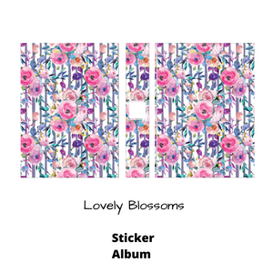 Lovely Blossoms Large Sticker Album - Floral- album for stickers - 5 x 7 - sticker storage - sticker book - The Planner's World