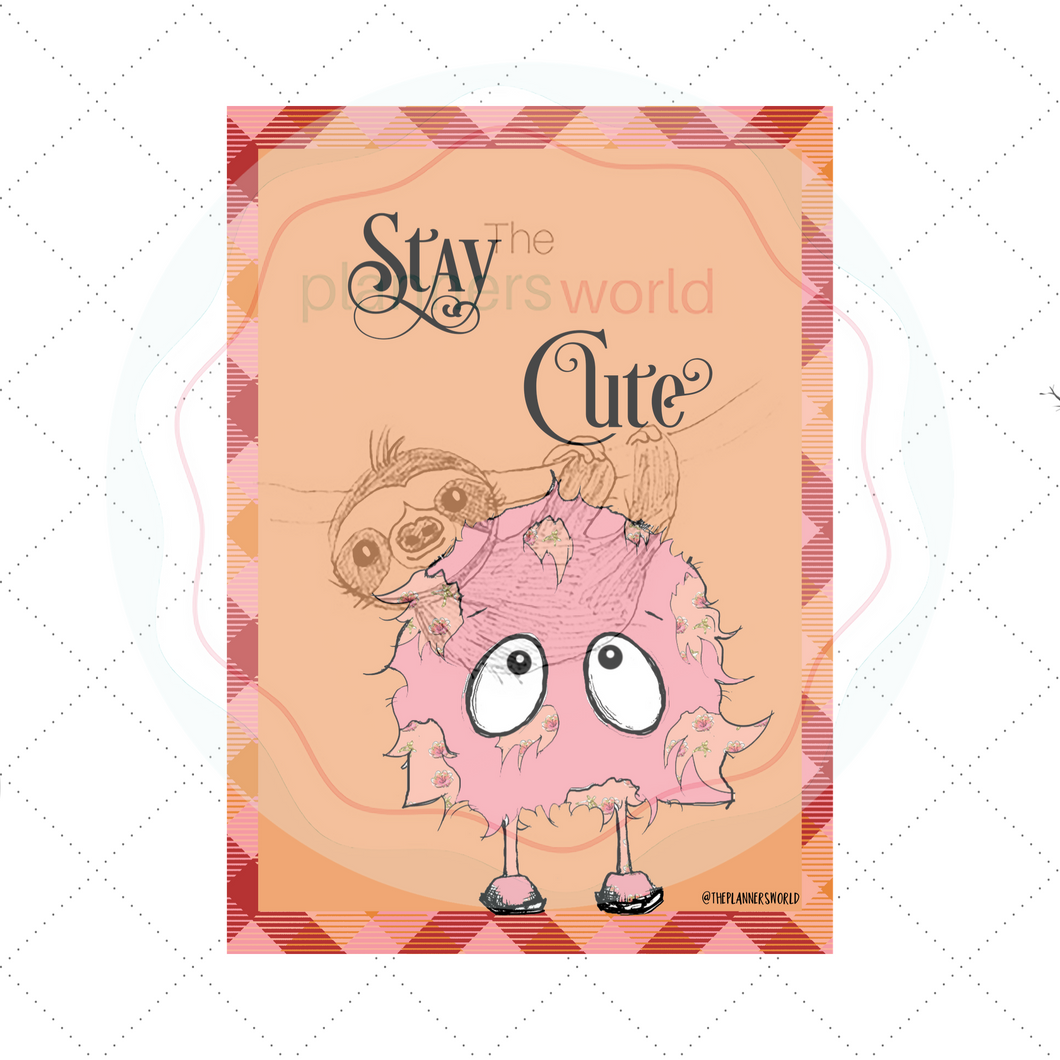 Creepy Cute Stay Cute Dashboard - The Planner's World