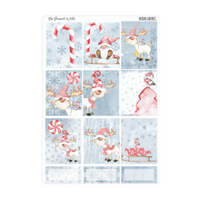 Nordic Gnomes weekly vertical Sticker Kit - christmas