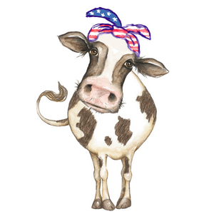 Daisy Moo Cow Patriotic Planner Die Cut Sticker - The Planner's World