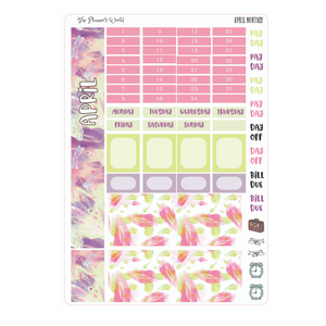 April Monthly Hobonichi Sticker Kit - The Planner's World