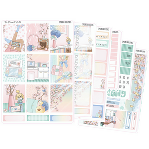 Spring Horizons weekly vertical Sticker Kit - The Planner's World