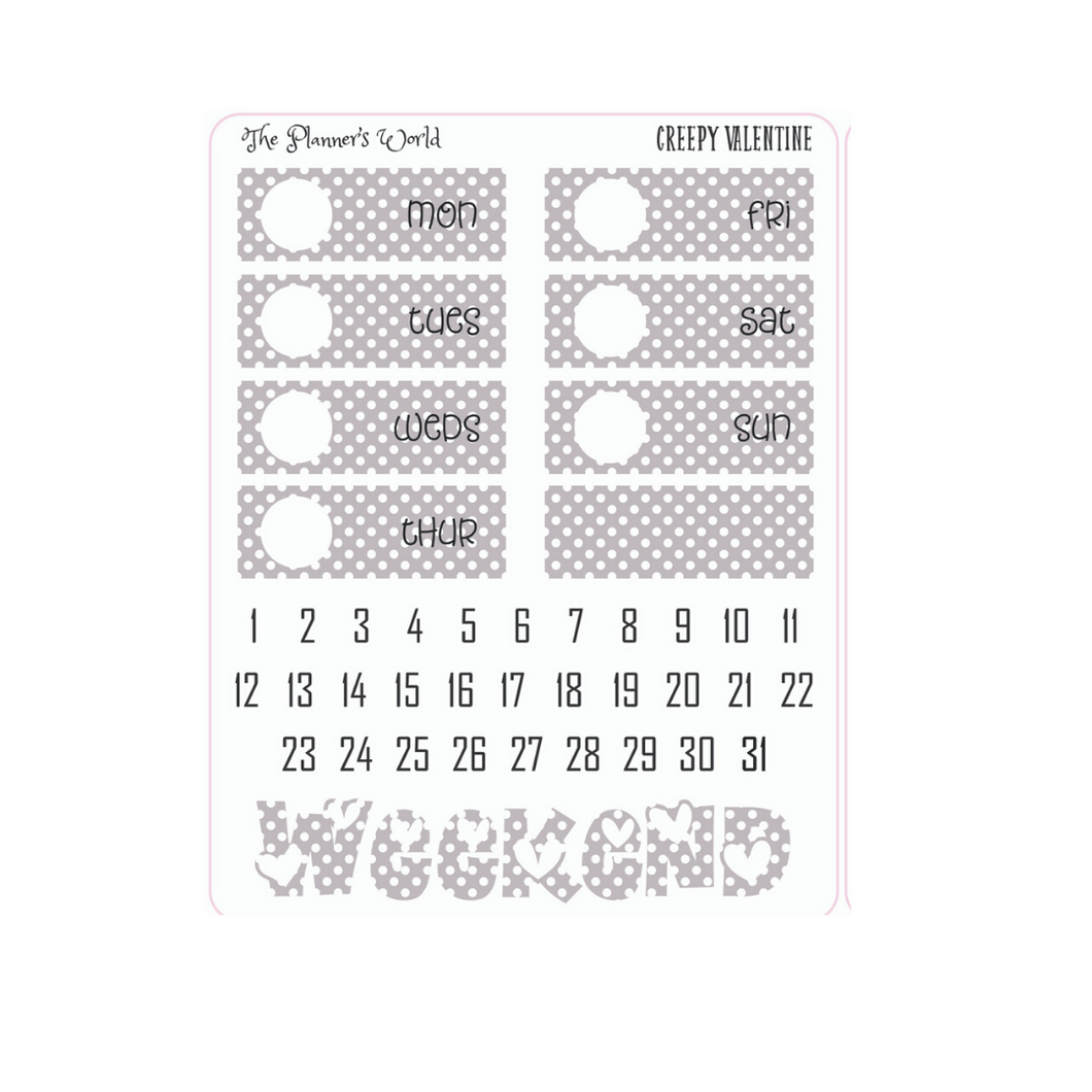 date covers dotted planner stickers - The Planner's World