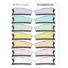 Pastel Doodle Boxes Planner Stickers - The Planner's World