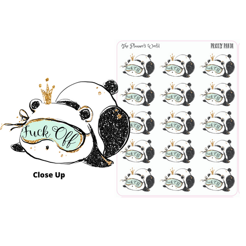 Adult stickers  - Prickly Panda Stickers - Adult Stickers - Snarky stickers - The Planner's World