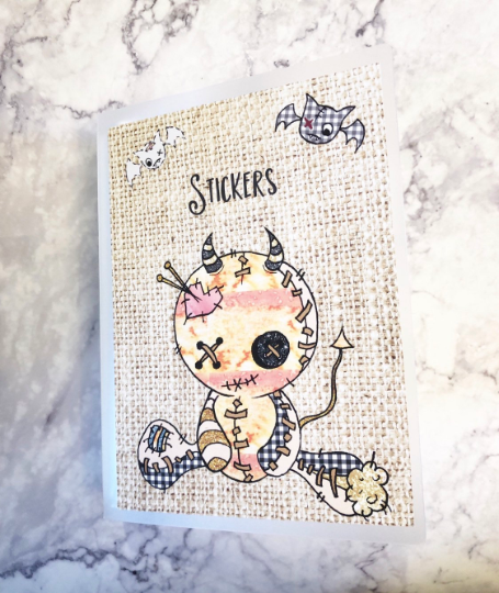 Large Sticker Album - Creepy Cute Dolly - sticker storage - album for stickers - The Planner's World