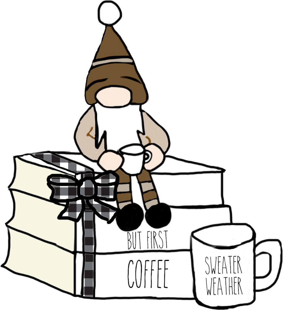 Coffee Gnome Book Stack Die Cut - The Planner's World