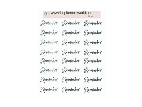 Reminder stickers - script stickers - functional planner stickers - text stickers - font sticker - reminder - MS001