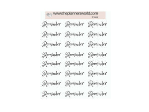 Reminder stickers - script stickers - functional planner stickers - text stickers - font sticker - reminder - MS001 - The Planner's World