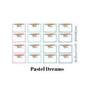 Mocha pencil half box Planner Stickers - The Planner's World