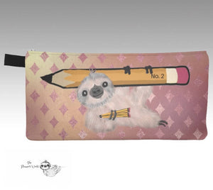 Sloth bag - cute - Pencil Pouch - sloth - gifts - toiletry bag - Pencil Case - storage bag - organizer - sloths - gift - pouch - The Planner's World