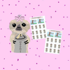 Camping Planner Stickers - fishing stickers - planner stickers - Kawaii sloth stickers - sloth stickers - character stickers - The Planner's World